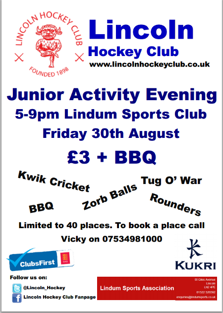 Junior Activity Evening Poster
