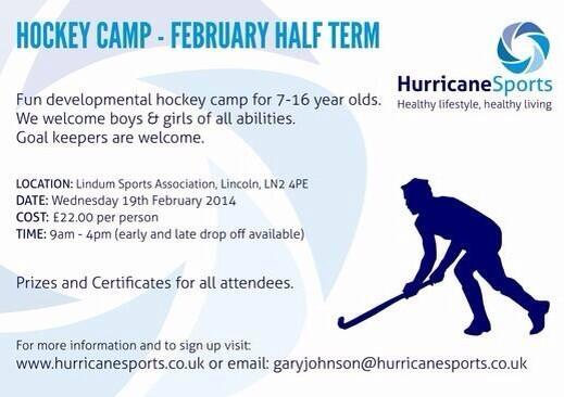 Hockey Camp, February Half Term 2014