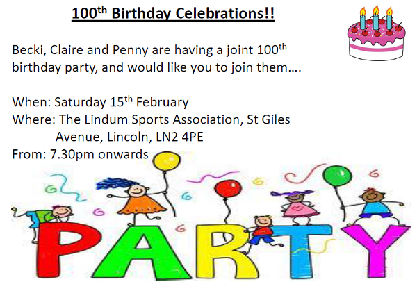 100th Party for Becki Claire and Penny