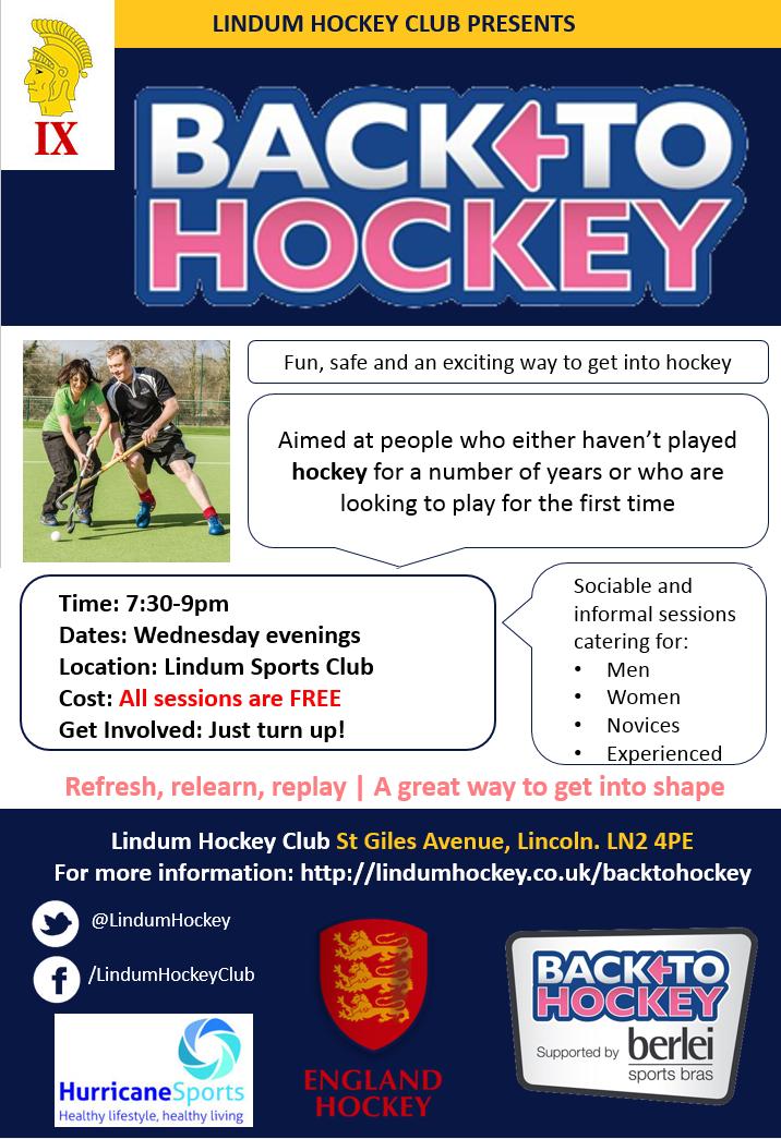 Back To Hockey at Lindum Hockey Club