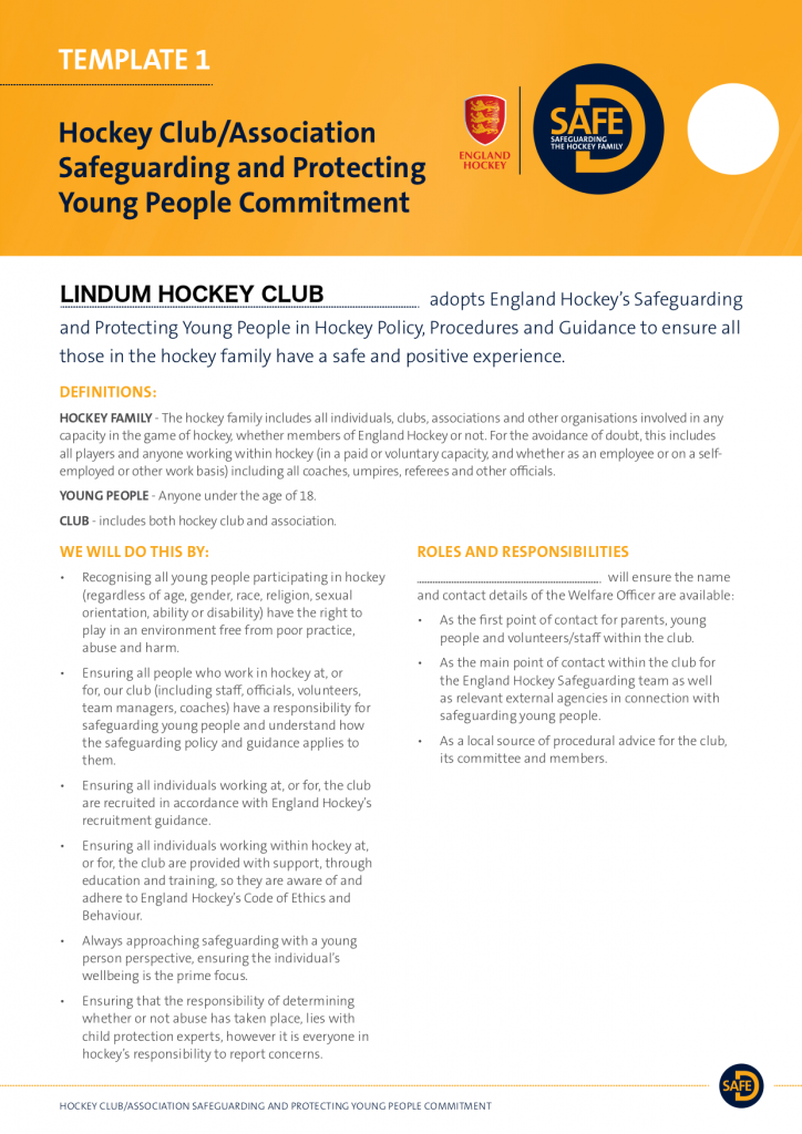 Safeguarding and Protecting Young People Commitment